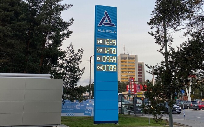 Fuel prices in an Alexela filling station in late October.