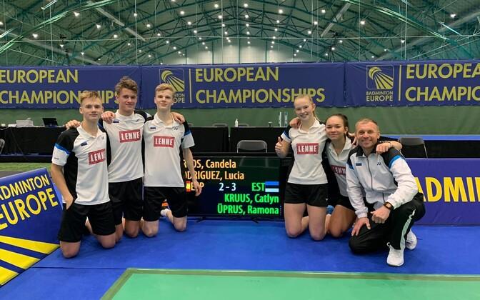 Eesti juunioride koondis sulgpalli EM-il