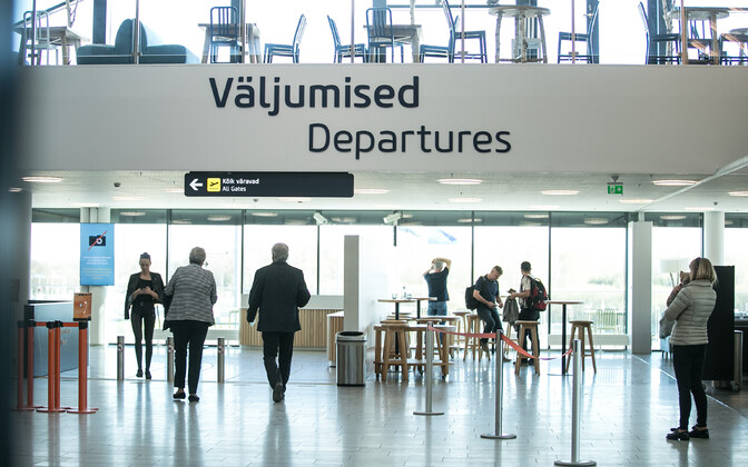 Таллиннский аэропорт ждет пассажиров.