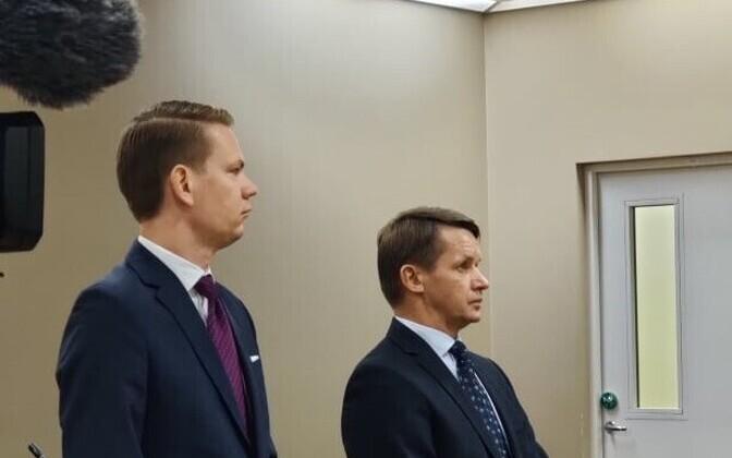 Valvo Semilarski and lawyer Oliver Nääs.