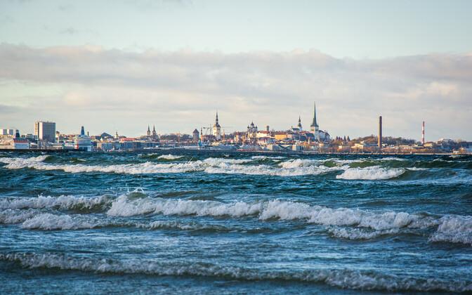 Tallinn skyline.