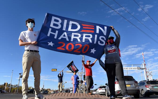 Joe Bideni toetajad.