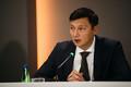 Mihhail Kõlvart Tallinna linnavalitsuse pressikonverentsil
