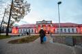 Железнодорожный вокзал в Нарве.