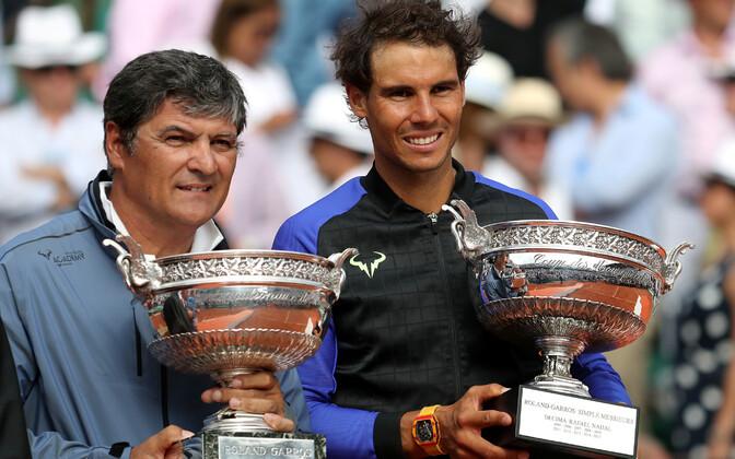 Toni (vasakul) ja Rafael Nadal