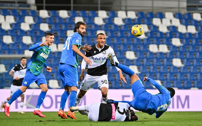 Sassuolo ja Udinese mängisid väravateta viiki.