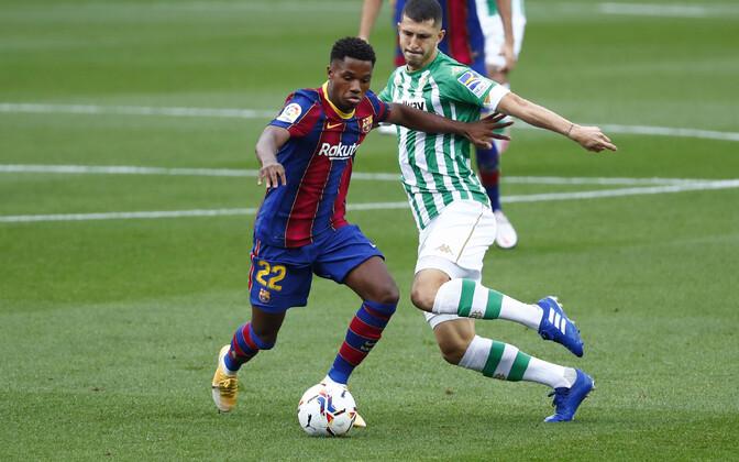 Ansu Fati (vasakul) mängus Real Betise vastu