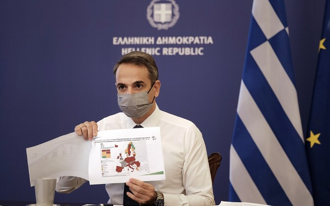 Kreeka peaminister Kyriakos Mitsotakis.