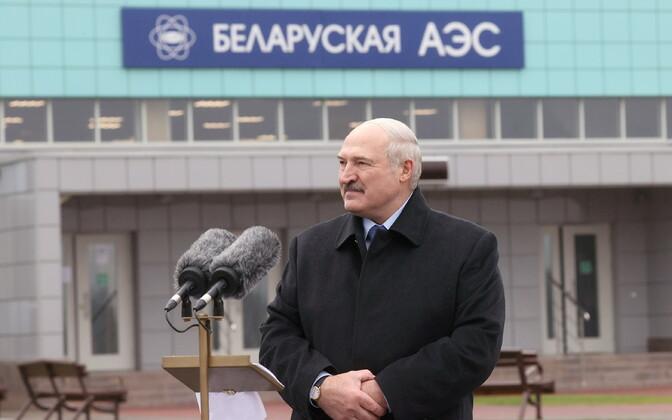 Александр Лукашенко на открытии БелАЭС в городе Островец, 7 ноября.