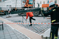 Construction work starts on Tartu's ice skating rink on Town Hall Square.