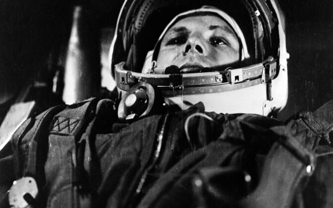 Juri Gagarin kosmoselaevas.