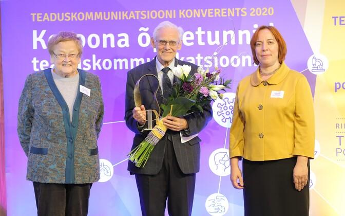 Vasakult: Ene Ergma, Jüri Engelbrecht ja Mailis Reps.