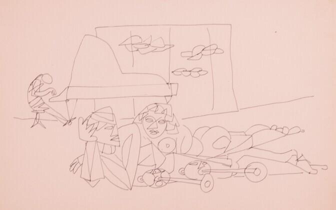 Ülo Sooster. Kompositsioon. 1950--1960
