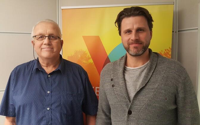 Танель Тейн (справа) со своим отцом Тоомасом Тейном.