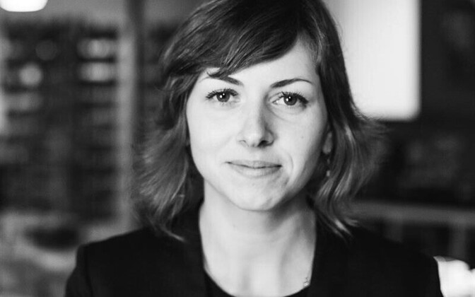 Läti kirjanik Inga Žolude.