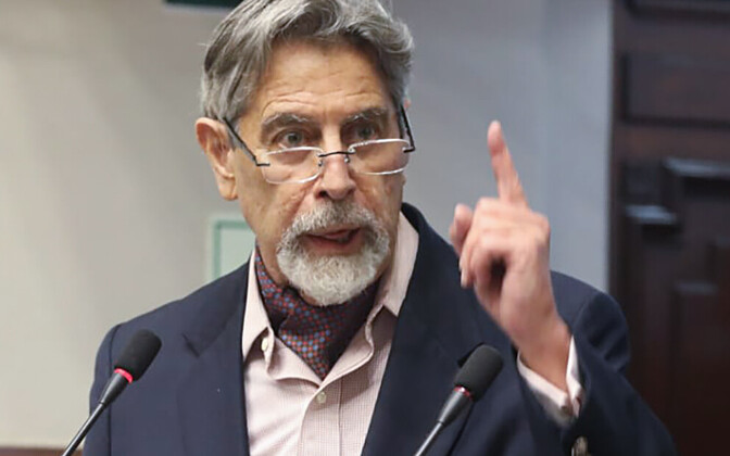 Peruu uus president  Francisco Sagasti.