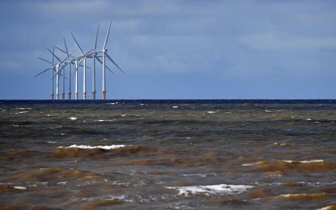 Meretuulepark Inglismaa rannikul.