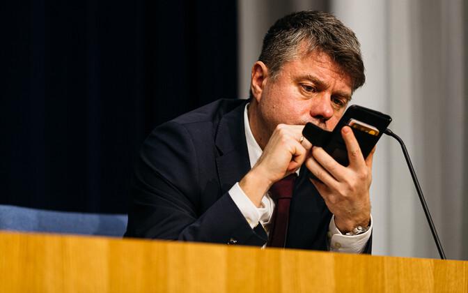 Министр иностранных дел Эстонии Урмас Рейнсалу.