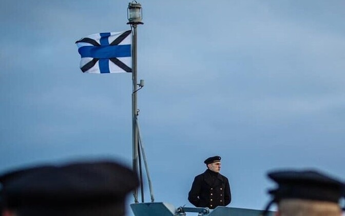 Estonian Navy (Merevägi) personnel on the force's 102nd anniversary.