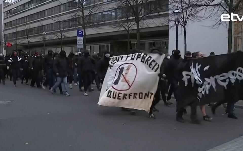 Протест в Лейпциге.