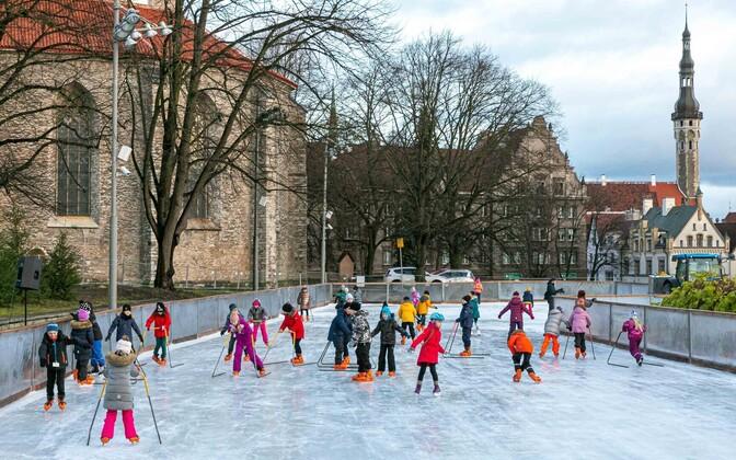 Tallinn's Old Town ice skating rink opened on November 23.