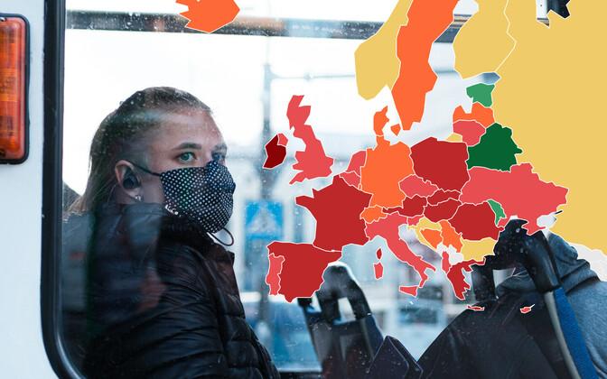 Kuni viimase ajani edestas Eestit Euroopas koroonapiirangute leebuse poolest vaid Moldova ja Valgevene.+