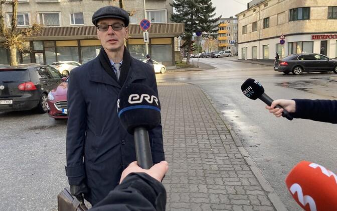 Marti Kuusik on his way to court.