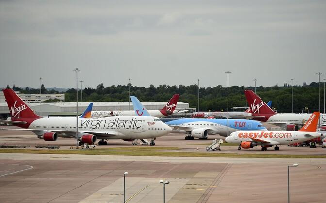 Lennukid Manchesteri lennuväljal.