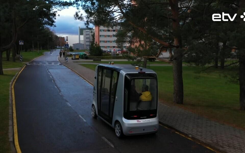 На территории Таллиннского технического университета очередной этап тестирования проходит беспилотный автобус.