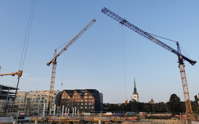 Объем строительных работ уменьшился. Иллюстративная фотография.