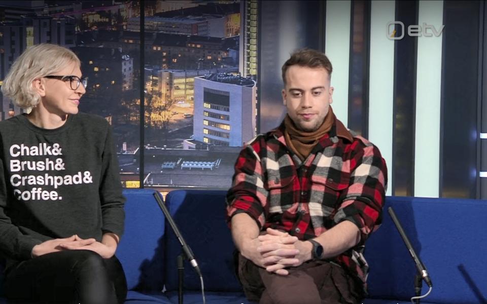 Мария Вита и Руслан Айзатулин в передаче Ringvaade.