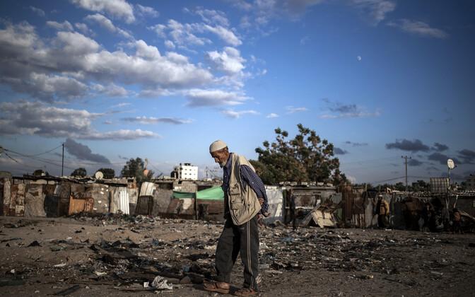 Palestiinlane Gaza sektori lõunaosas pagulaslaagris.