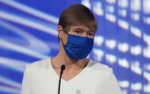 """Kersti Kaljulaid Tartu Ülikooli koroonakonverentsil """"Arukas kohanemine koroonaviirusega""""."""