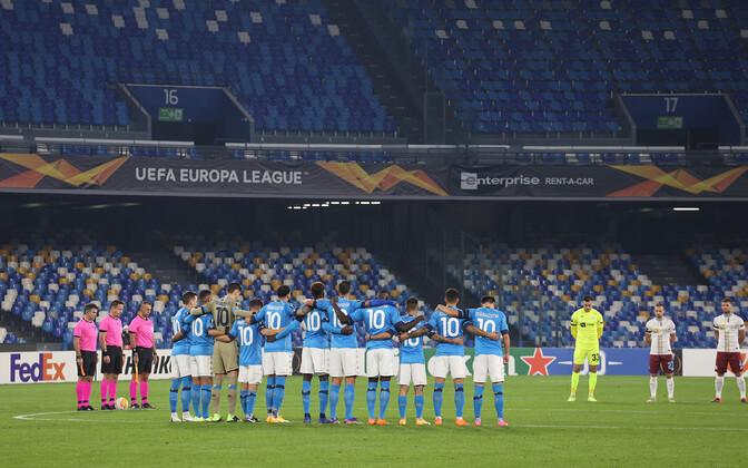 Napoli mängijad kandmas