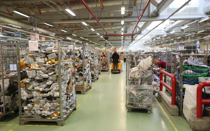 An Omniva/Eesti Post sorting center