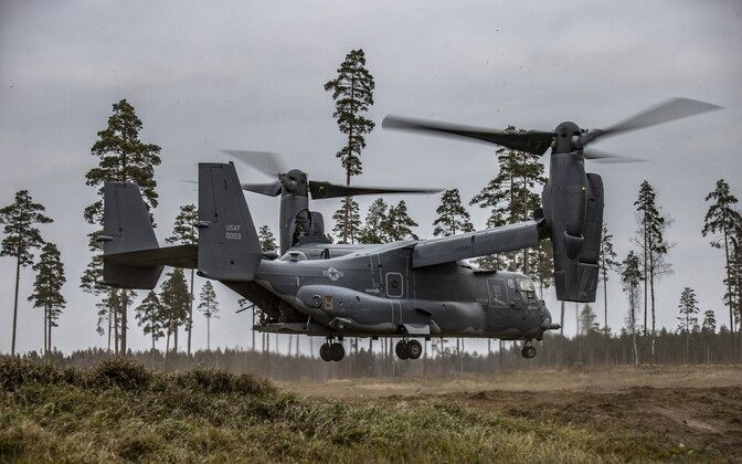 Bell Boeing V-22 Osprey tiltrotor aircraft at the EDF's central polygon earlier this month.