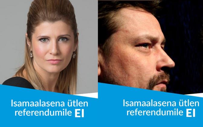 Viktoria Ladõnskaja-Kubitsa ja Üllar Saaremäe, two of the Isamaa MPs who have made their views on the marriage referendum known via social media.