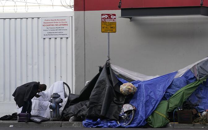 Kodutute telklinnakud on San Francisco kõnniteedel tavaliseks muutunud.