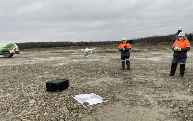 Survey drones being used at an Eesti Energia mine.