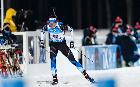 Tuuli Tomingas in competition.