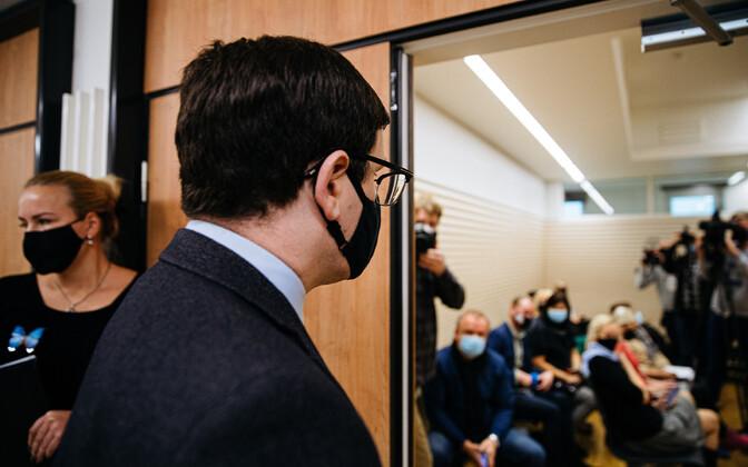 Пеэтер Хельме на оглашении приговора.