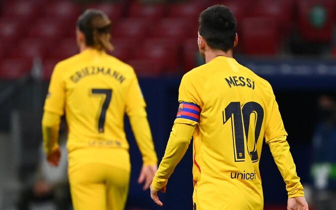 Barcelona tähed Antoine Griezmann ja Lionel Messi