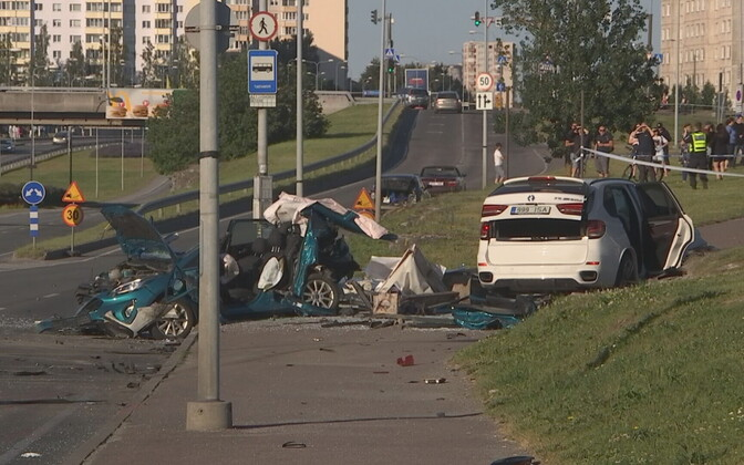 Scene of last June's fatal accident on Laagna tee in Tallinn.