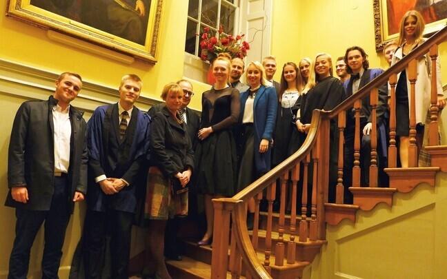 Estonian students in England.