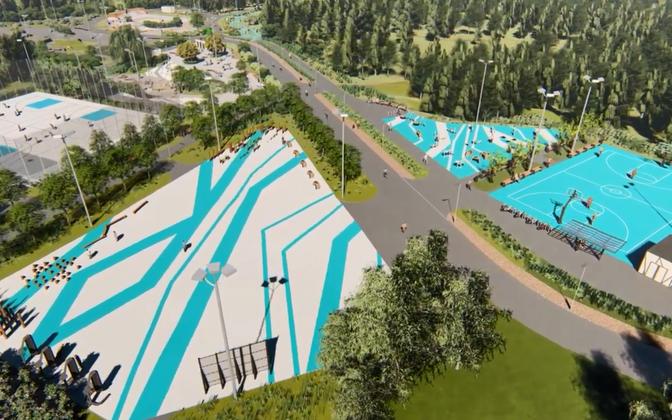 Так будет выглядеть часть нового парка.