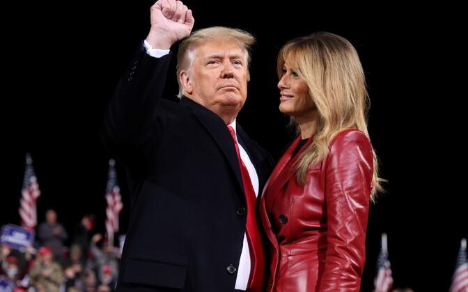 President Donald Trump ja esimene leedi Melania Trump-
