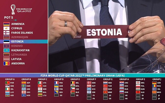 2022 World Cup draw in progress.