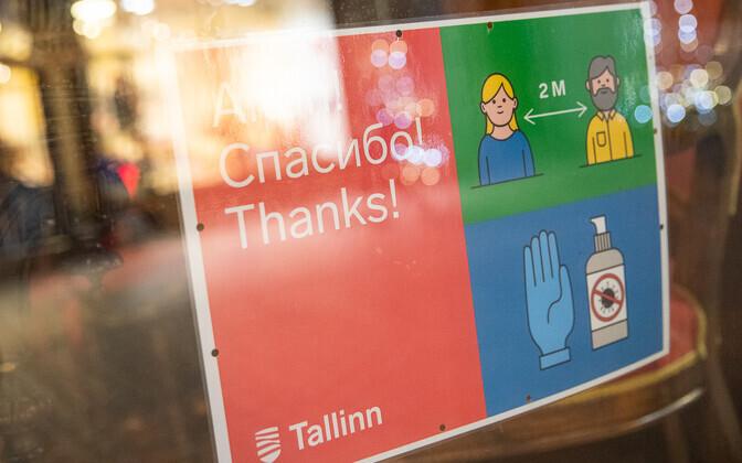 Tallinn manitseb inimesi distantsi hoidma ja käsi puhastama