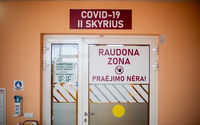 Vaade Alytuse haigla koroonaosakonnale.