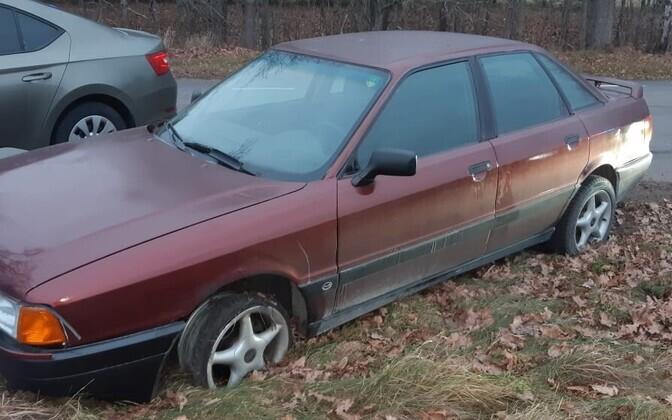 Politsei eest põgenenud juhi Audi.